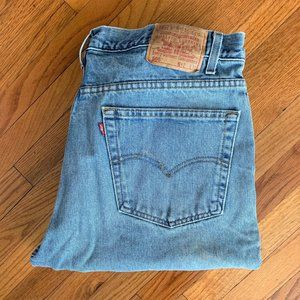 Levi's 505 Straight Leg Regular Fit Light Jeans